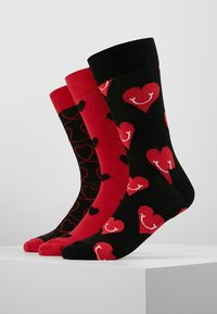Happy Socks - I LOVE YOU GIFT BOX 3 PACK - Calcetines - black/red - 0