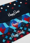 Happy Socks - OPTIC DOT PLUS SOCKS 3 PACK - Socks - black/blue