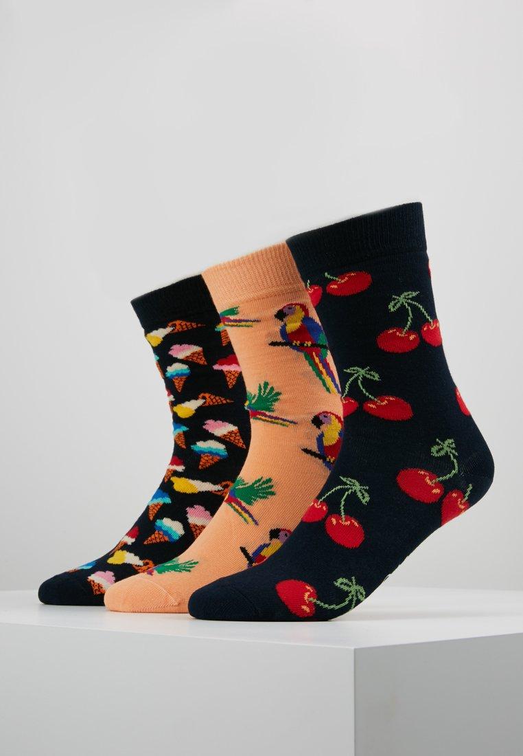 Happy Socks - ICE CREAM CHERRY PARROT 3 PACK SOCKS - Socks - multi-coloured