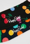 Happy Socks - BIG DOT CHERRY SOCK 2 PACK - Socken - black