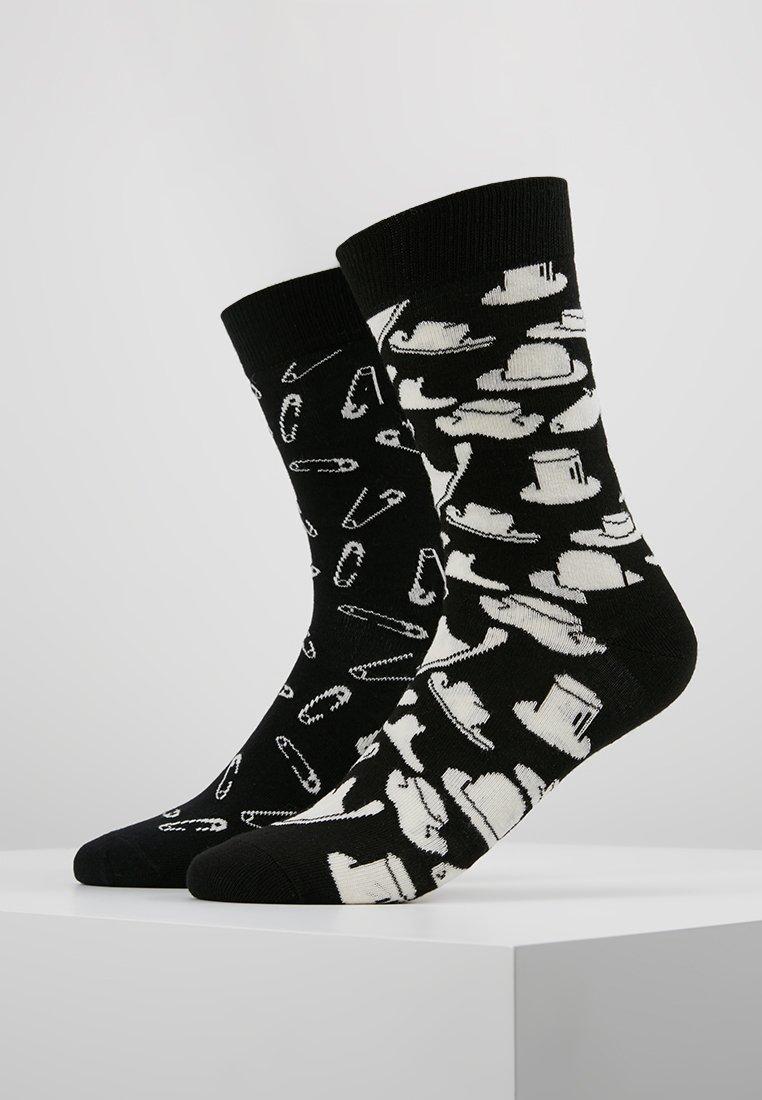 Happy Socks - HATS PINS SOCK 2 PACK - Socks - black