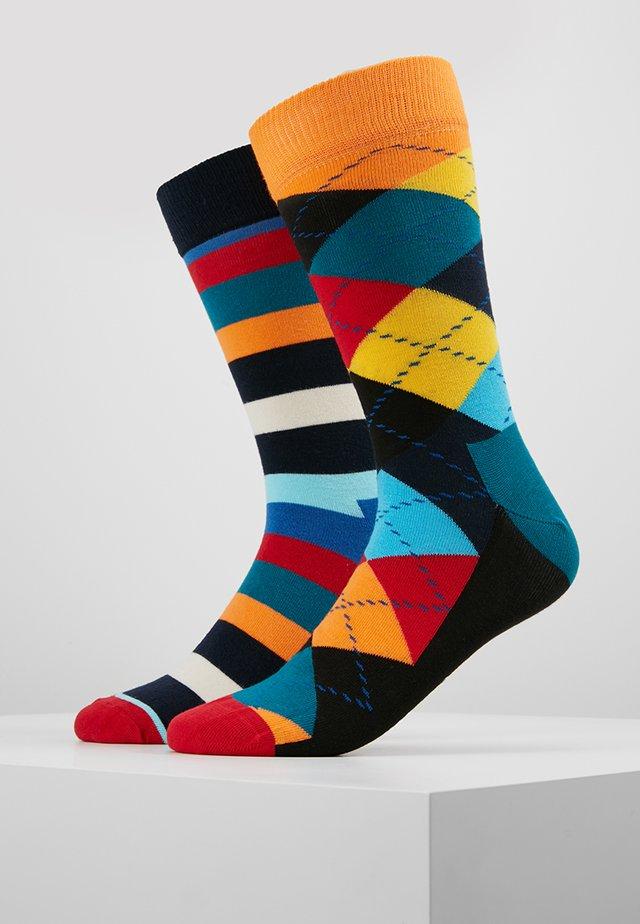 ARGYLE STRIPE SOCK 2 PACK - Socken - multi-coloured