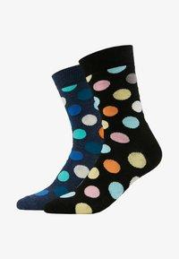 Happy Socks - BIG DOT SOCK 2 PACK - Calcetines - black/multi-coloured - 1