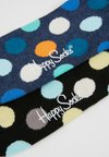 Happy Socks - BIG DOT SOCK 2 PACK - Socken - black/multi-coloured