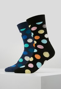 Happy Socks - BIG DOT SOCK 2 PACK - Calcetines - black/multi-coloured - 0