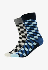 Happy Socks - FILLED OPTIC 2 PACK - Ponožky - multi-coloured - 1