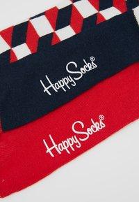 Happy Socks - FILLED OPTIC HALF STRIPE 2 PACK - Ponožky - black/multi-coloured - 2