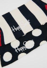 Happy Socks - BIG DOT STRIPE SOCK 2 PACK - Ponožky - black/white/red - 2