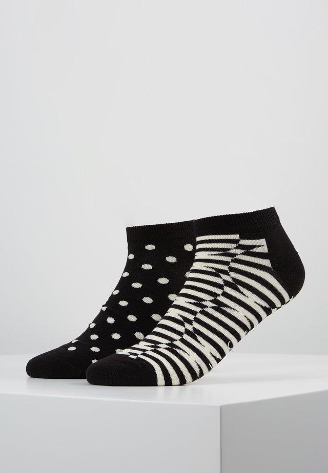 OPTIC DOT LOW 2 PACK - Socken - black/white