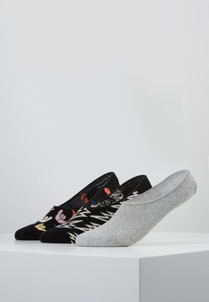 HANG LOOSE LINER SOCK 3 PACK - Enkelsokken - black/grey/multicoloured