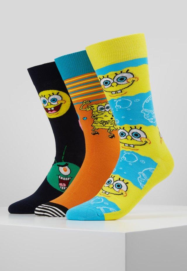 SPONGE BOB GIFT BOX 3 PACK - Ponožky - multi