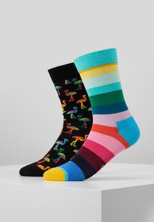 FLAMINGO STRIPE SOCK 2 PACK - Ponožky - multi