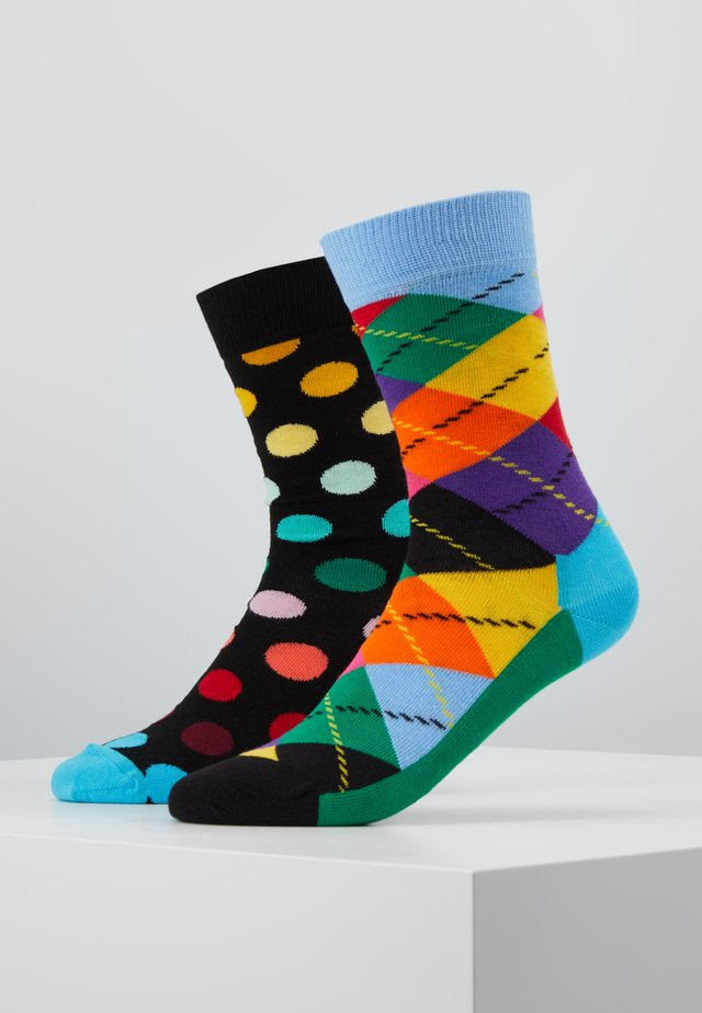 ARGYLE BIG DOT SOCK 2 PACK - Sokker - multi