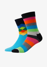 Happy Socks - 2 PACK FADED DIAMOND STRIPE SOCK - Sokken - multi - 1