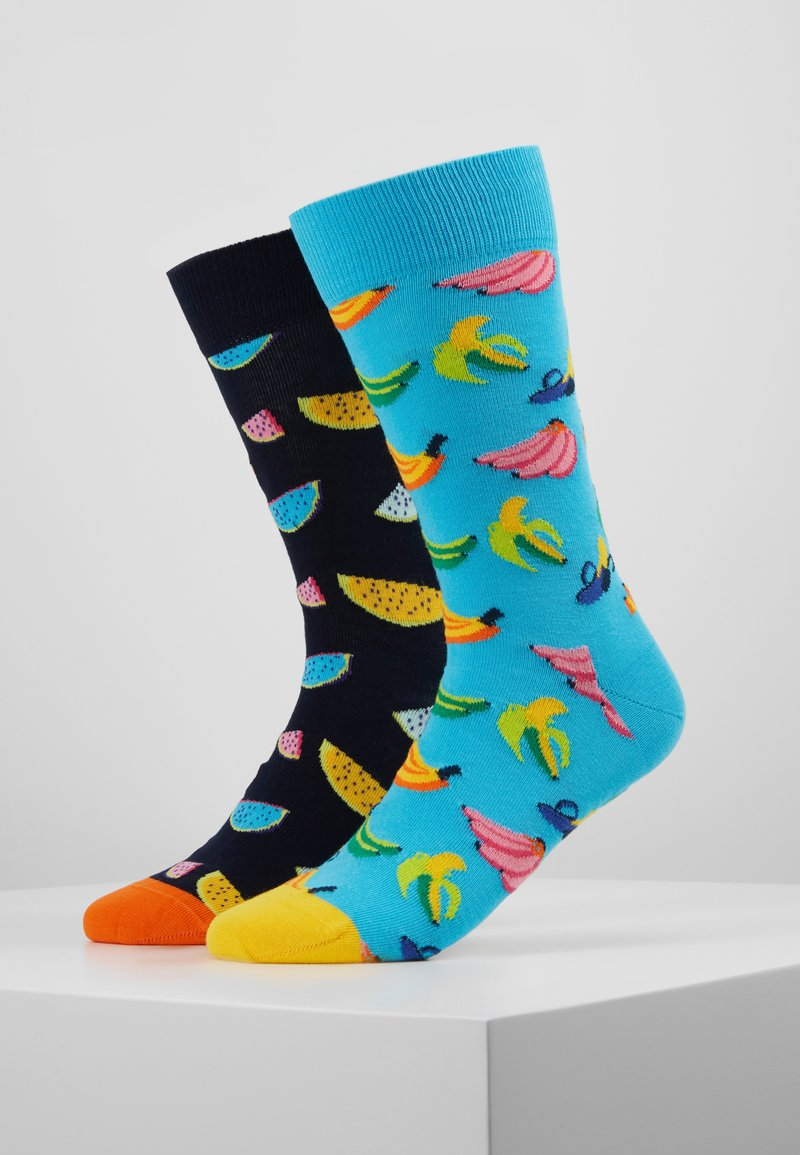 Happy Socks - 2 PACK WATERMELON BANANA - Sokken - multi