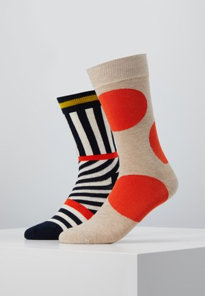 JUMBO DOT AND STRIPES 2 PACK - Socks - multi