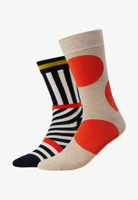 Happy Socks - JUMBO DOT AND STRIPES 2 PACK - Sokken - multi