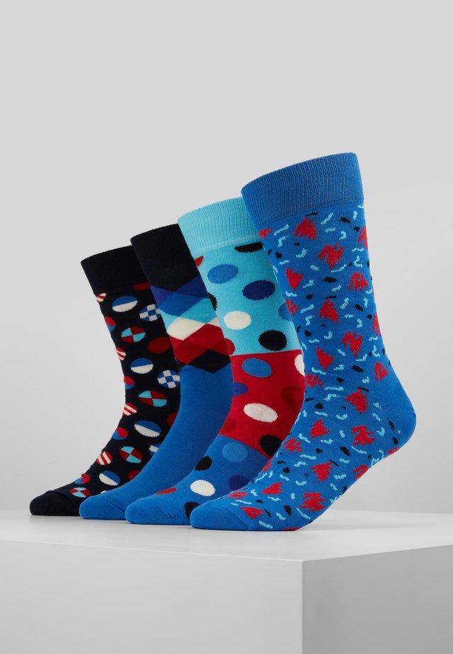 GIFT BOX 4 PACK - Ponožky - blue