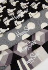 Happy Socks - GIFT BOX 4 PACK - Socken - black/white