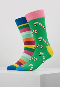 Happy Socks - HOLIDAY CRACKER CANDY CANE 2 PACK - Calcetines - multi - 0