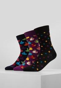 Happy Socks - RUBBER DUCK THUNBS UP DOT 3 PACK - Sokken - multi - 0