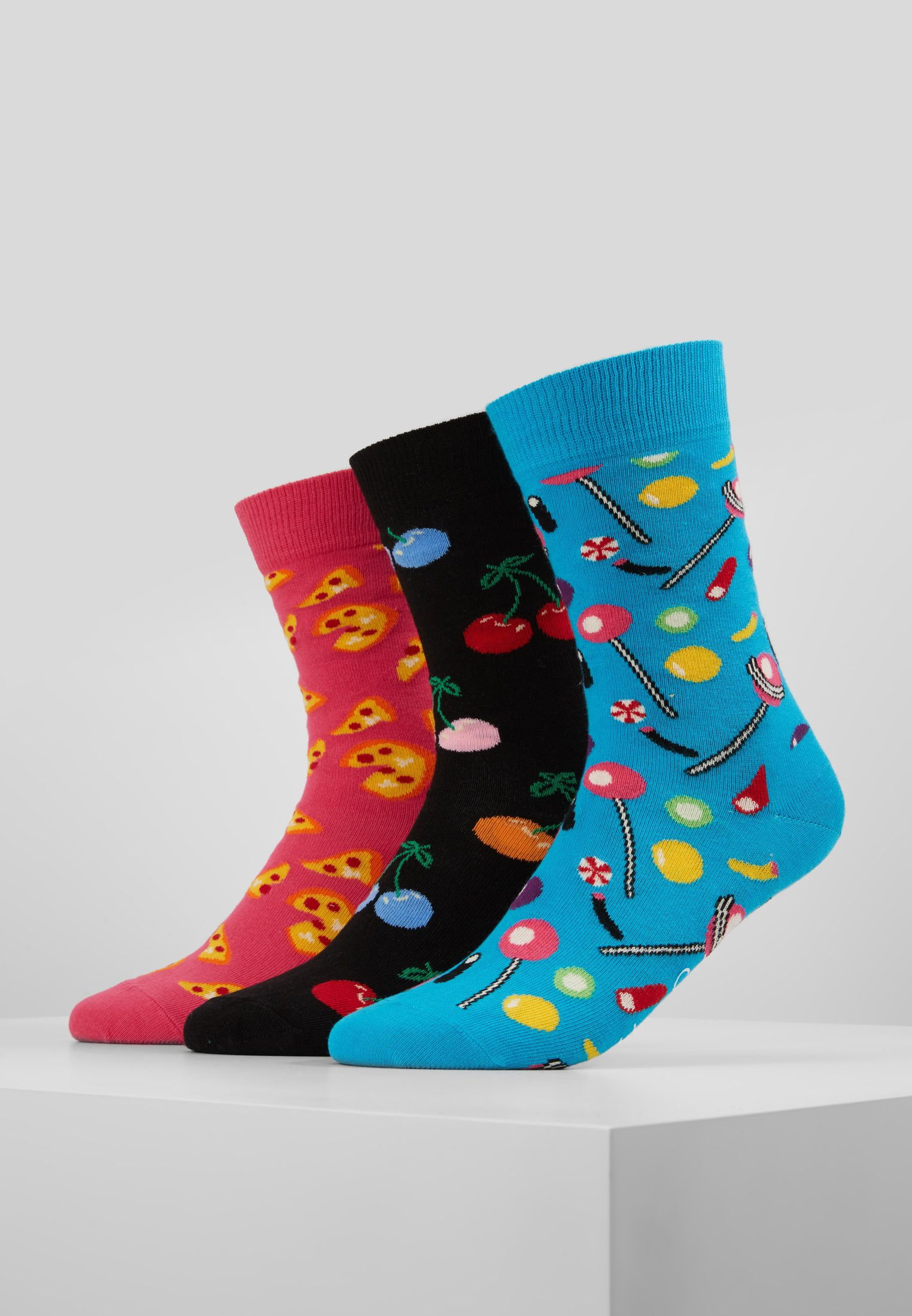 3 Cherry Happy Pizza Socks Candy Multi PackChaussettes sQthrCd
