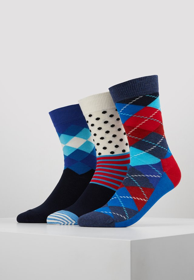 ARGYLE/FADED DIAMOND/STRIPE AND DOT 3 PACK - Ponožky - multi
