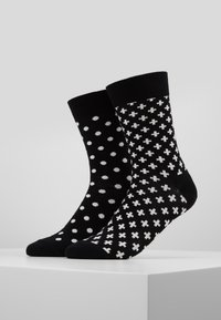 Happy Socks - DOT PLUS 2 PACK - Sokken - black - 0