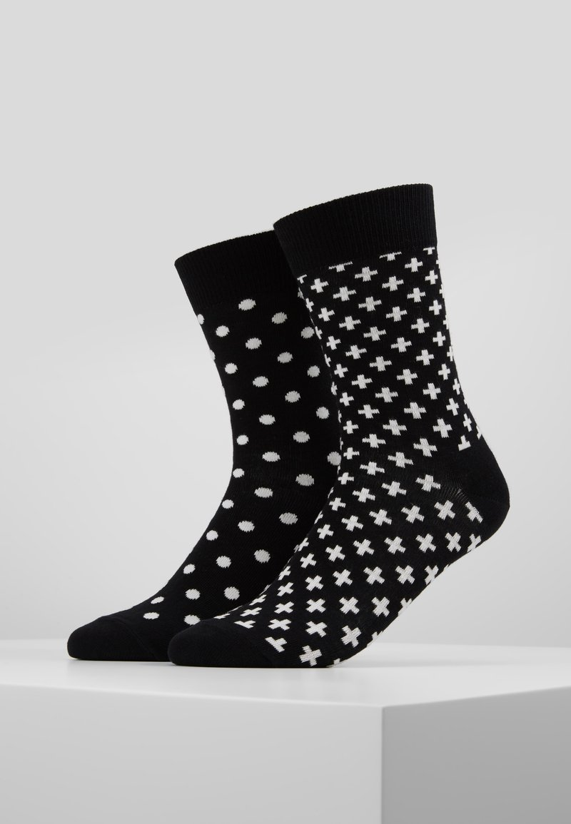 Happy Socks - DOT PLUS 2 PACK - Sokken - black