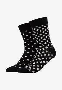 Happy Socks - DOT PLUS 2 PACK - Sokken - black - 1