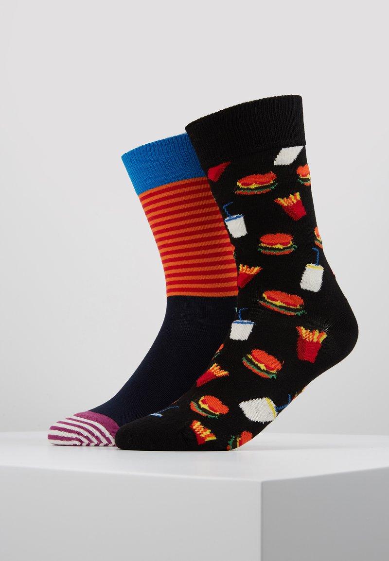 Happy Socks - BURGER HALF STRIPE 2 PACK - Socks - multi