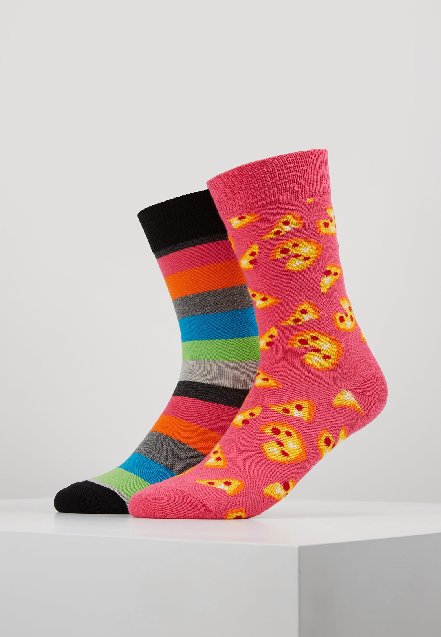 2 PackChaussettes Multi Happy Pizza Stripe Socks DHEW2IY9