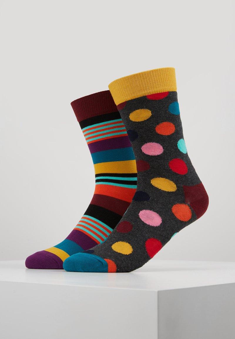 Happy Socks - BIG DOT STRIPE 2 Pack - Socken - multi