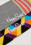 Happy Socks - OPTIC SQUARE/STRIPE AND DOT 2 PACK - Socken - multi