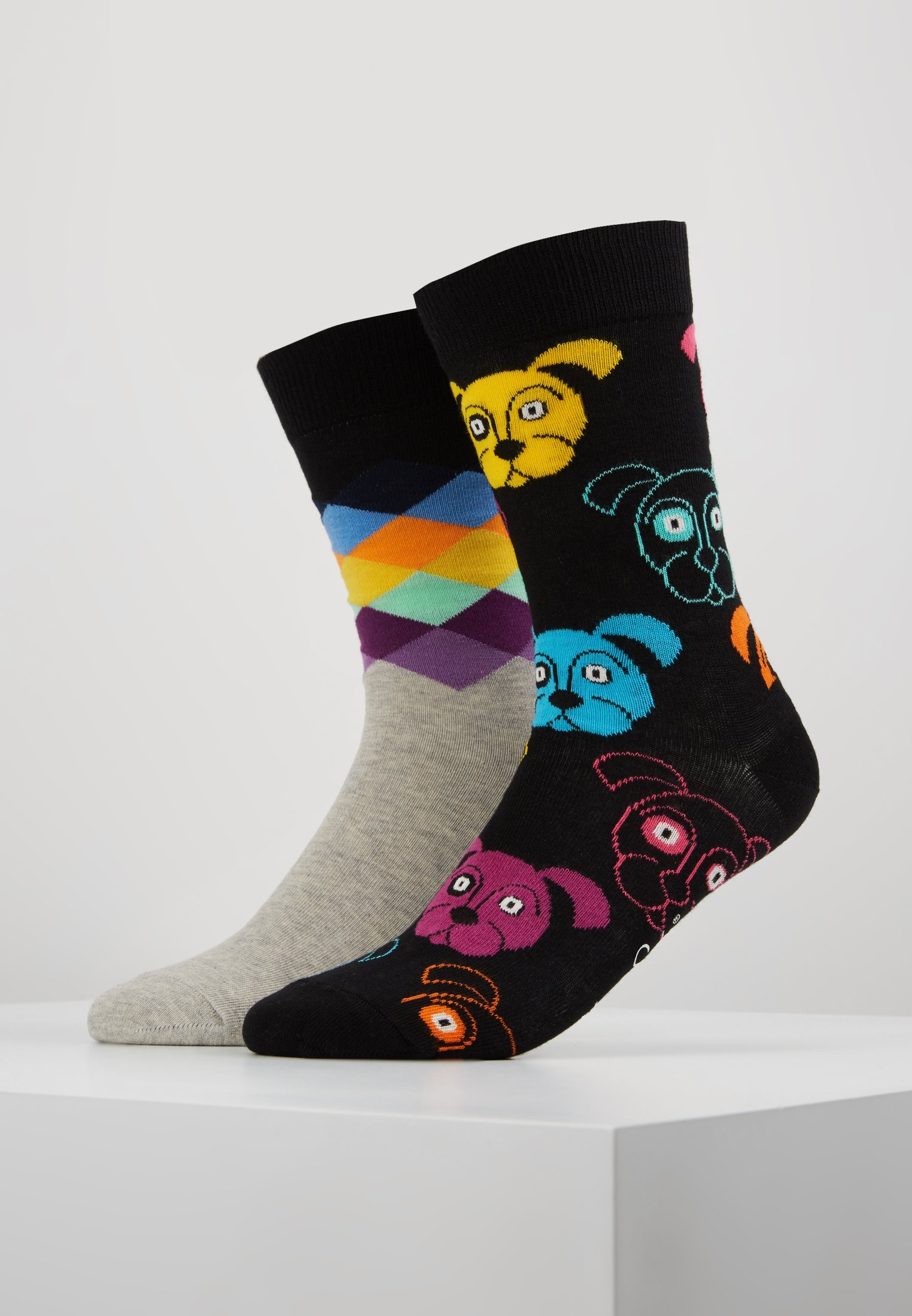 Happy Faded DiamondChaussettes Socks Dog Multi xeCQrBodWE