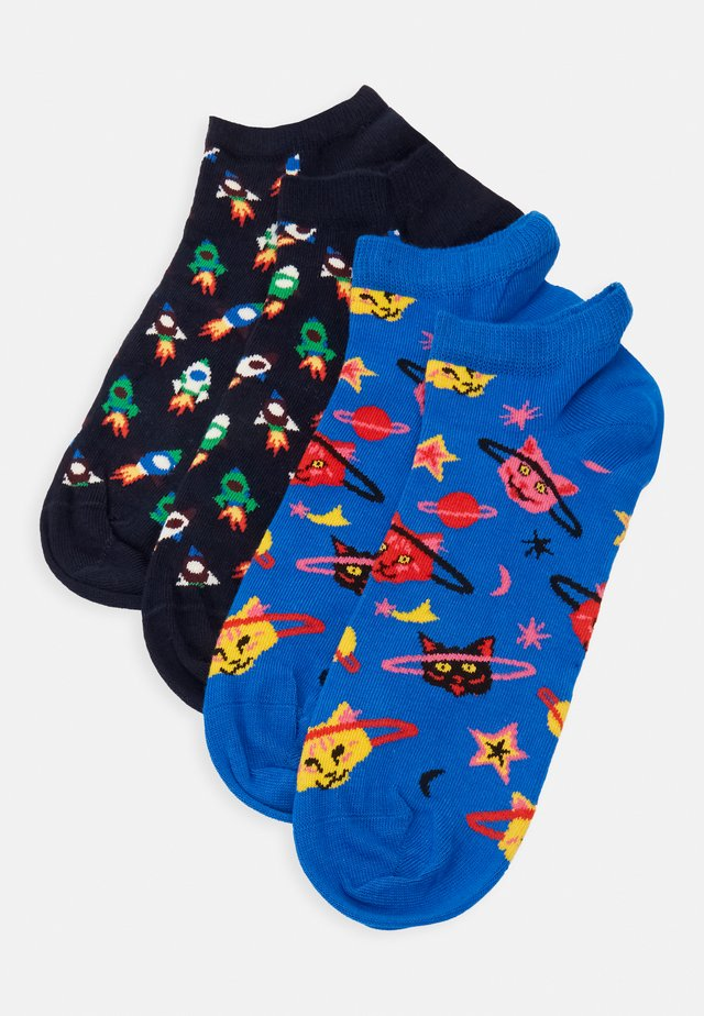 SPACE CAT LOW SOCK 2 PACK - Skarpety - medium blue