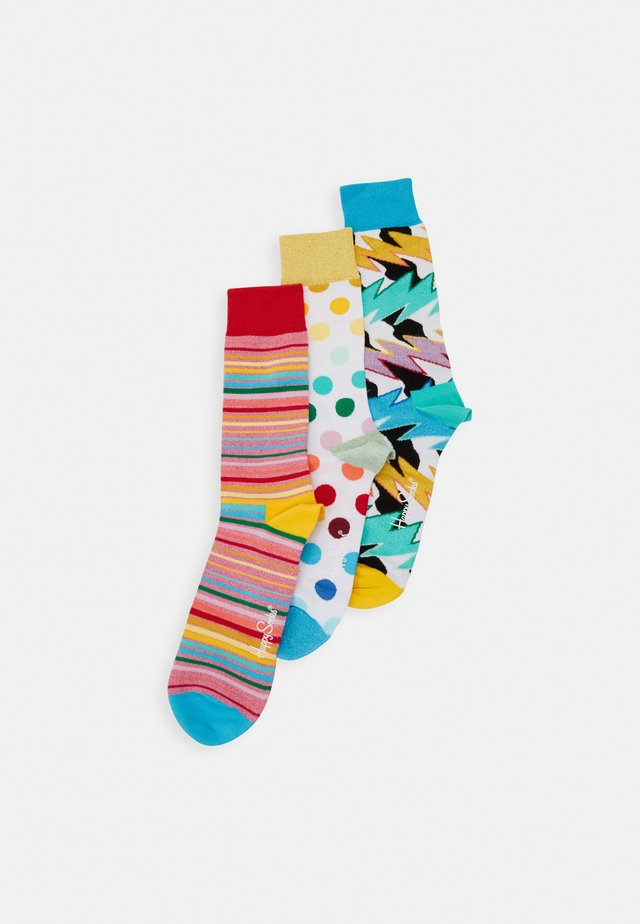 MIXED PRIDE SOCKS GIFT SET 3 PACK - Strømper - beige