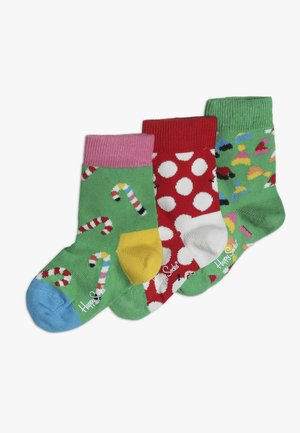 KIDS HOLIDAY GIFT BOX 3 PACK - Socks - green/red