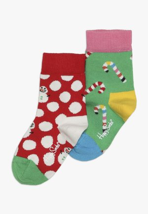 SMU HOLIDAY CREW 2 PACK - Socks - red/green
