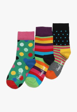 BASIC CREW 3 PACK - Socks - multi-coloured