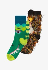 Happy Socks - KIDS IMAGE PIECES 2 PACK - Ponožky - green/brown - 3