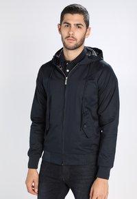 HARRINGTON - HOODED - Summer jacket - marine - 0