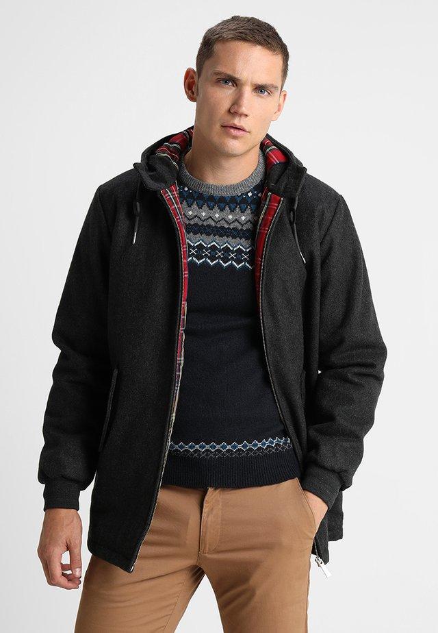 FRANCKY HOODED - Short coat - gris