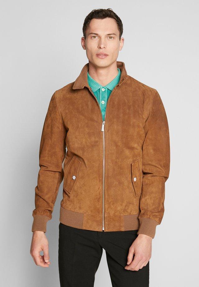 MORRISON - Leather jacket - tobacco