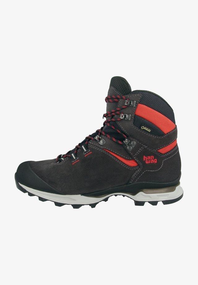 Hiking shoes - asphalt-red