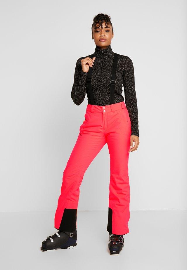 PUNTTI SKI PANTS - Pantaloni da neve - neon fiery coral