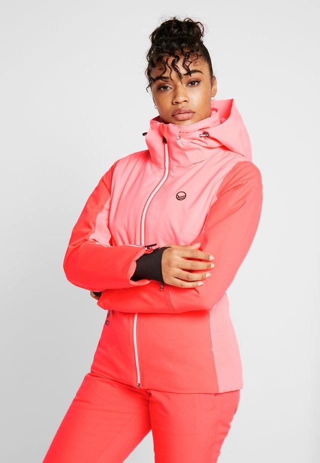 SAARUA JACKET - Ski jacket - neon fiery coral