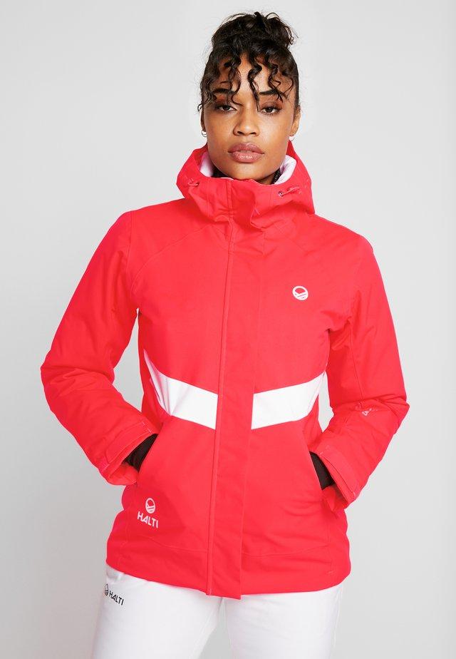 KELO JACKET - Ski jacket - neon fiery coral