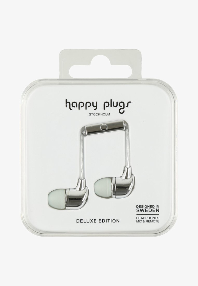 Happy Plugs - DELUXE - Kopfhörer - silver