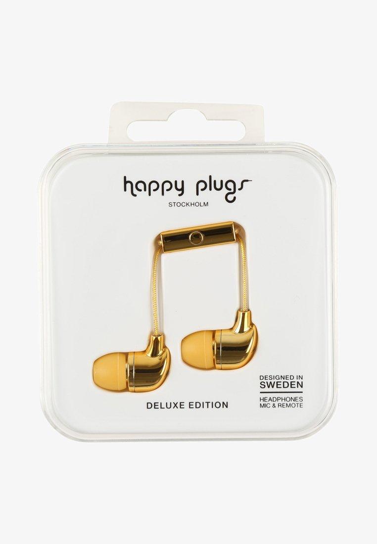 Happy Plugs - DELUXE - Kopfhörer - gold